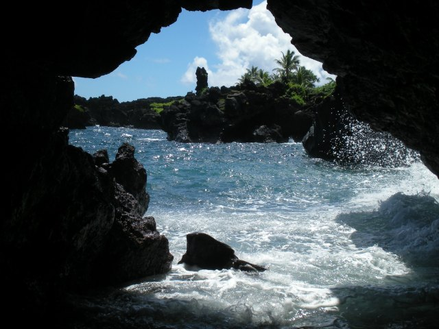 Cave at Wai'anapanapa State Park near Hana